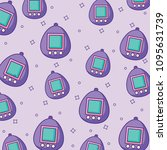 tamagotchi background design | Shutterstock .eps vector #1095631739