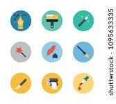 icons design with paint brush ... | Shutterstock .eps vector #1095633335