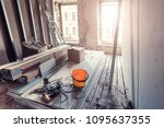 process of installing pvc... | Shutterstock . vector #1095637355