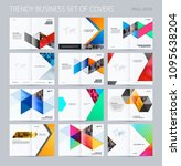 abstract double page brochure...   Shutterstock .eps vector #1095638204