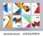 brochure design triangles... | Shutterstock .eps vector #1095639824