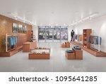 store interior. 3d illustration | Shutterstock . vector #1095641285