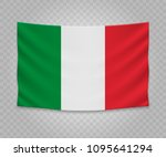 Realistic Hanging Flag Of Italy....
