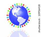 world partnership 3d... | Shutterstock . vector #10956418