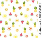 summertime elements vector... | Shutterstock .eps vector #1095641891