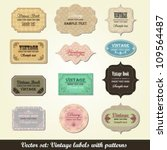 collection of vintage labels   Shutterstock .eps vector #109564487