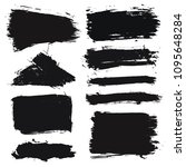 brush strokes text boxes.... | Shutterstock .eps vector #1095648284