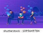 young people sitting in the... | Shutterstock .eps vector #1095649784