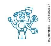 huge workload linear icon...   Shutterstock .eps vector #1095653837