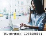 beautiful asian woman is... | Shutterstock . vector #1095658991