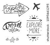 vector typography set of... | Shutterstock .eps vector #1095661295