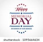 happy memorial day background... | Shutterstock .eps vector #1095664634