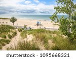 beach view from sand dune trail | Shutterstock . vector #1095668321