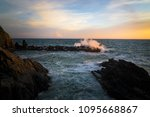 wave in manarola cinque terre... | Shutterstock . vector #1095668867
