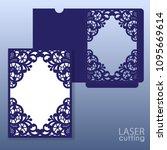 die laser cut wedding card... | Shutterstock .eps vector #1095669614