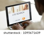 unemployed worker looking at... | Shutterstock . vector #1095671639