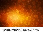 dark orange vector background... | Shutterstock .eps vector #1095674747