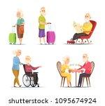 vector characters set of... | Shutterstock .eps vector #1095674924