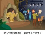 professional movie production.... | Shutterstock .eps vector #1095674957