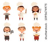 characters set of children... | Shutterstock .eps vector #1095674975