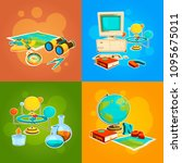 collection of geography and... | Shutterstock .eps vector #1095675011