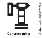 concrete mixer icon isolated on ... | Shutterstock .eps vector #1095676775