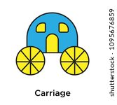 carriage icon isolated on white ... | Shutterstock .eps vector #1095676859