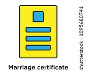 marriage certificate icon... | Shutterstock .eps vector #1095680741
