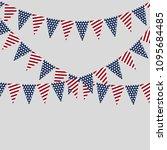 holiday garlands of american... | Shutterstock .eps vector #1095684485