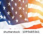 closeup of rippled american... | Shutterstock . vector #1095685361