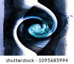 abstract twirl motion blur... | Shutterstock . vector #1095685994