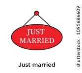 just married icon isolated on... | Shutterstock .eps vector #1095686609