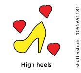 high heels icon isolated on... | Shutterstock .eps vector #1095691181