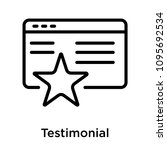 testimonial icon isolated on...   Shutterstock .eps vector #1095692534