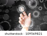 hand of women pushing button on ... | Shutterstock . vector #109569821
