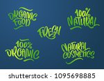 lettering set for natural... | Shutterstock .eps vector #1095698885
