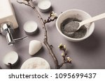 preparing cosmetic black mud...   Shutterstock . vector #1095699437