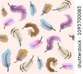 vector pattern in gentle colors ...   Shutterstock .eps vector #1095700085