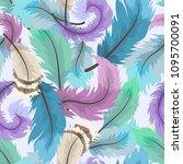 vector seamless modern pattern...   Shutterstock .eps vector #1095700091