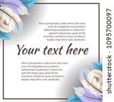 vector template in gentle... | Shutterstock .eps vector #1095700097