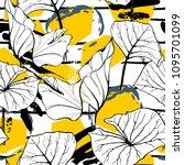 tropical  modern stripes motif. ... | Shutterstock .eps vector #1095701099
