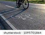 bike path on the asphalt road | Shutterstock . vector #1095701864