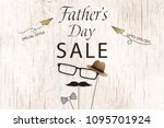 lovely special offer father's... | Shutterstock .eps vector #1095701924
