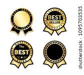 ribbon awards best seller set.... | Shutterstock .eps vector #1095703535