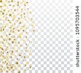 gold stars falling confetti...   Shutterstock .eps vector #1095703544