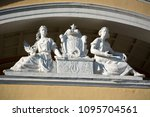 sculptures on facade of... | Shutterstock . vector #1095704561