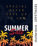 summer sale backgrounds with... | Shutterstock .eps vector #1095706181