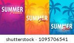 summer tropical backgrounds set ... | Shutterstock .eps vector #1095706541