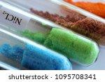 green crystals of nickel... | Shutterstock . vector #1095708341