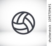 volleyball ball outline vecto | Shutterstock .eps vector #1095709691